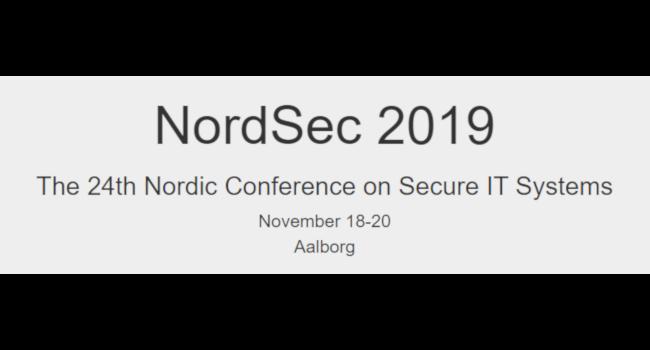 NordSec 2019 – 18-20 November, 2019 in Aalborg